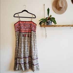 Anthropologie bohemian dress